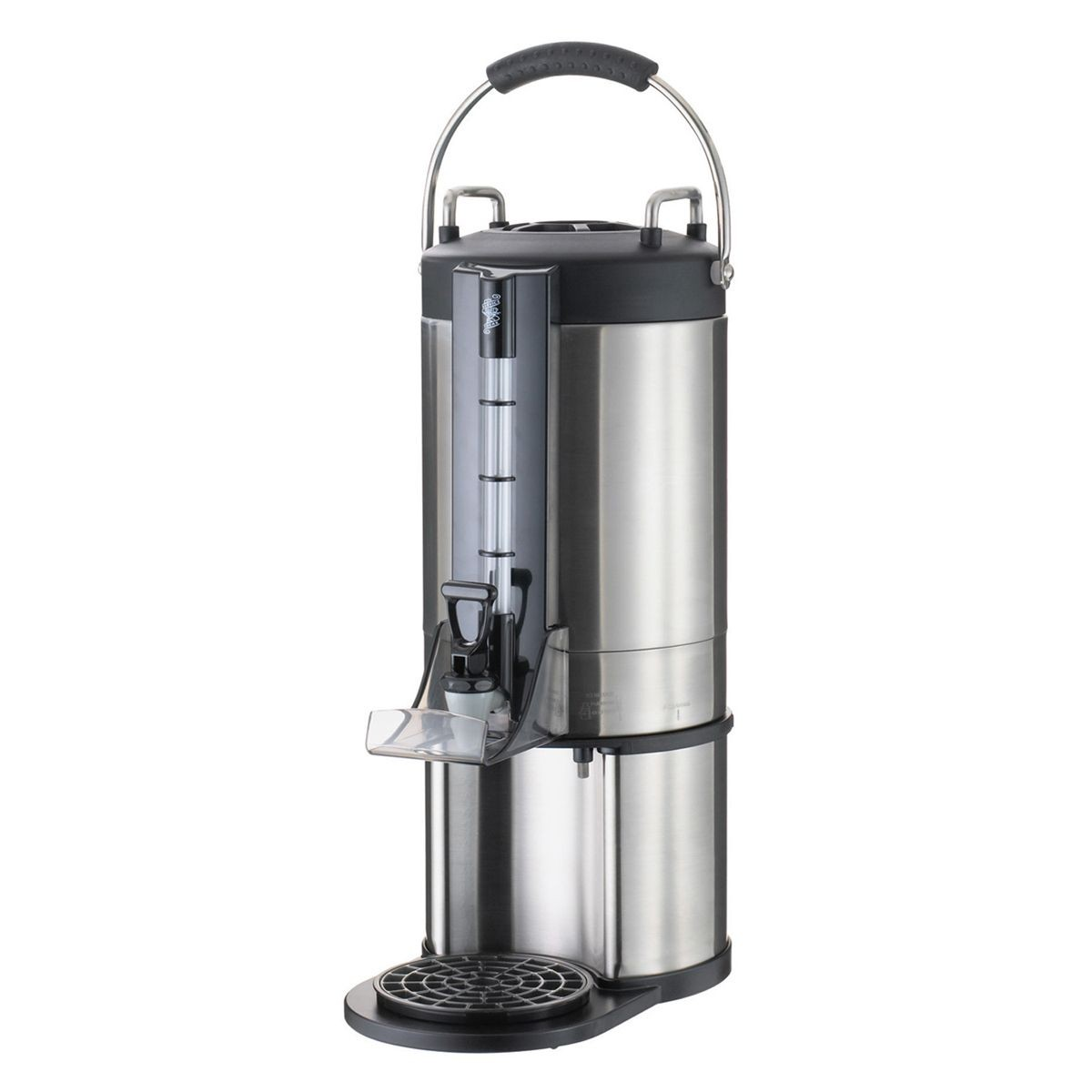 Service Ideas GIU15G Stainless Steel Thermal Beverage Dispenser, 1.5 Gallon