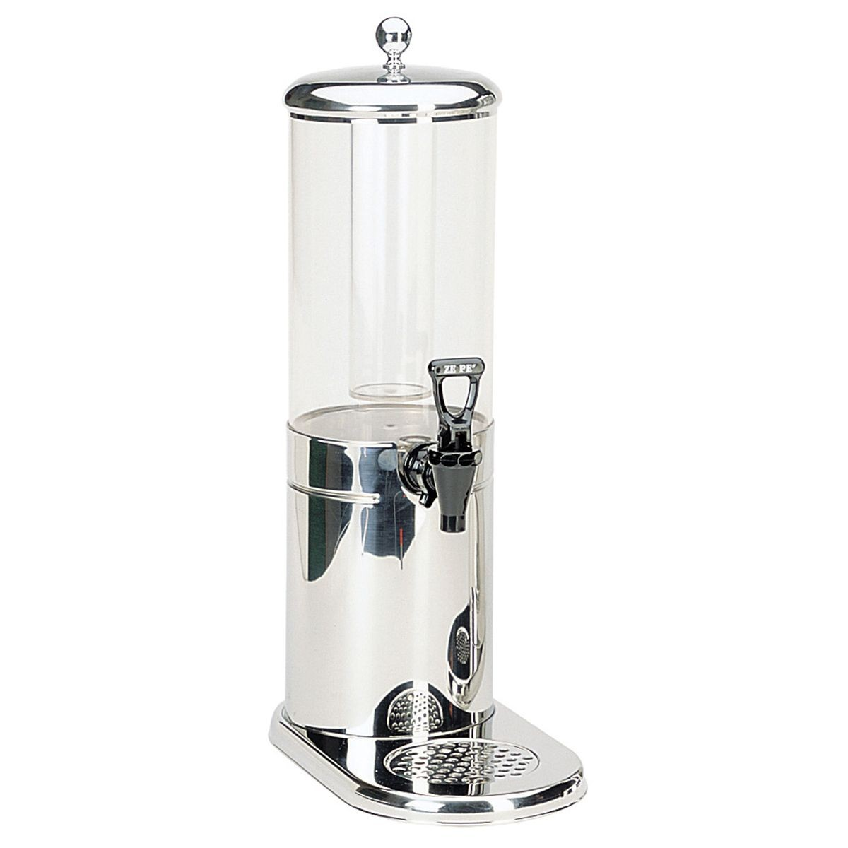 Service Ideas GSP1S4 Ze Pe Stainless Beverage Dispenser, 4 Liter