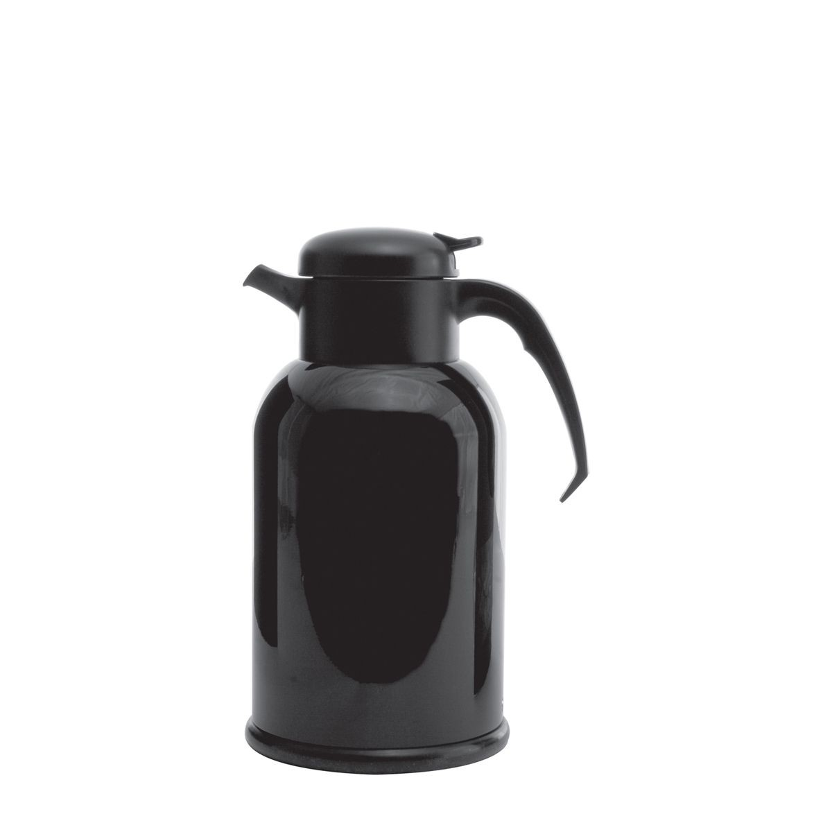 Service Ideas H100B Modern Black Thermal Coffee Server, 1 Liter