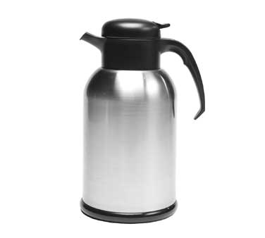 Service Ideas H100BS Modern Brushed Stainless Steel Thermal Coffee Server, 1 Liter