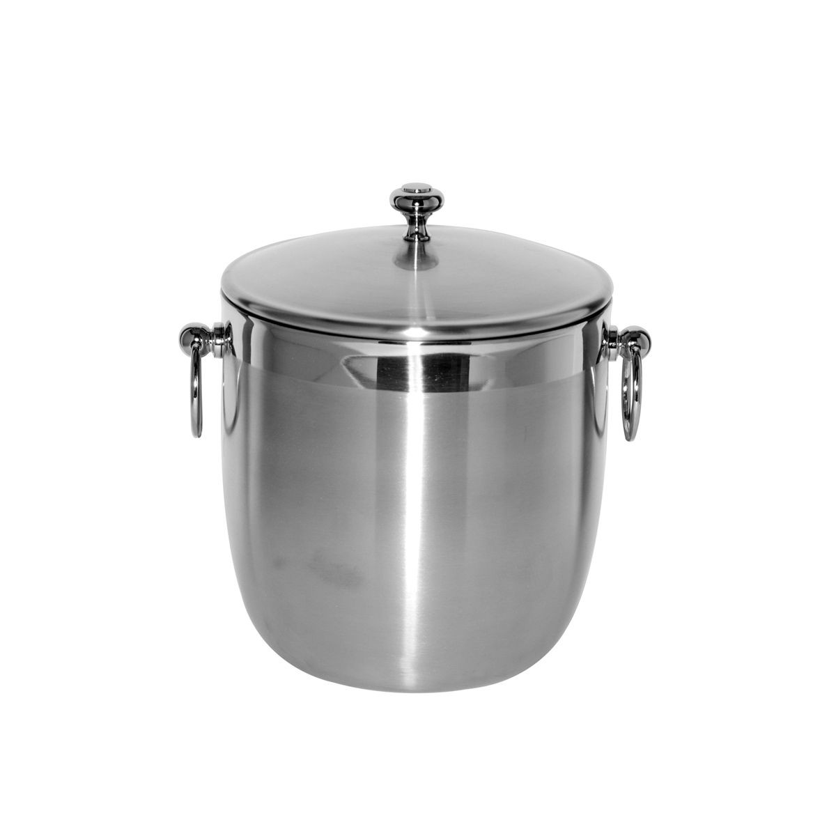 Service Ideas IB3BS Brushed Stainless Ice Bucket, 3 Liter