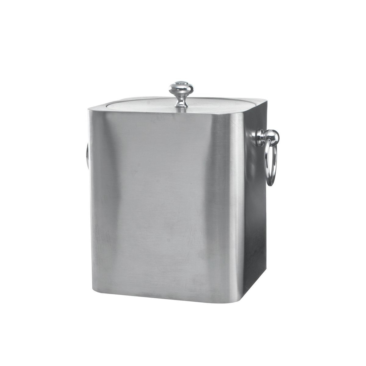 Service Ideas IBSQ3BS Brushed Stainless Square Ice Bucket, 3 Liter