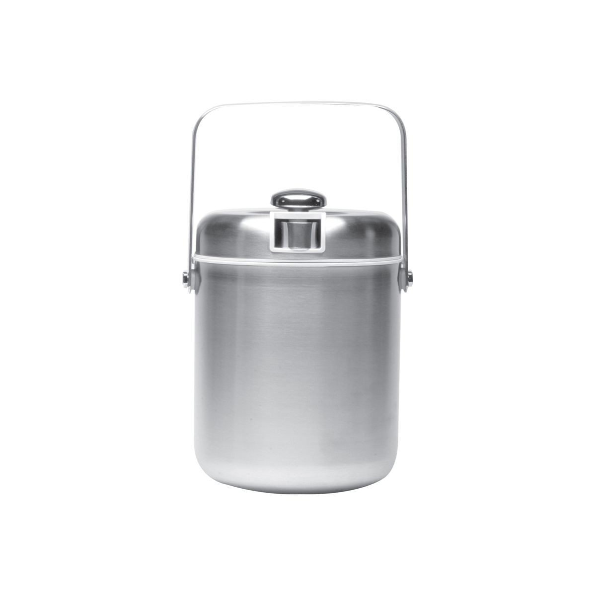 Service Ideas IBT15BS Ice Bucket with Tongs, White Interior 1.5 Liter