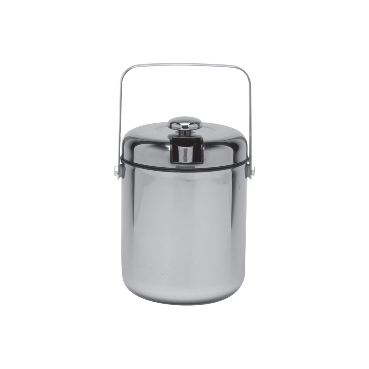 Service Ideas IBT15PS Ice Bucket with Tongs, Black Interior 1.5 Liter