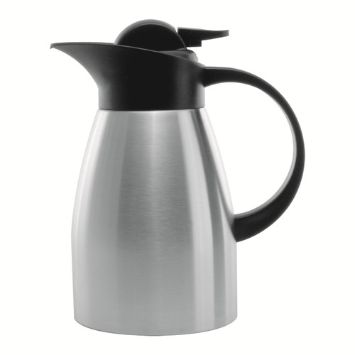 Service Ideas KVP1000 Brushed Stainless Touch Coffee Server, 1 Liter