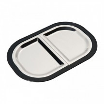 Service Ideas LO125BLC Thermo-Plate Sizzle Platter, Divided