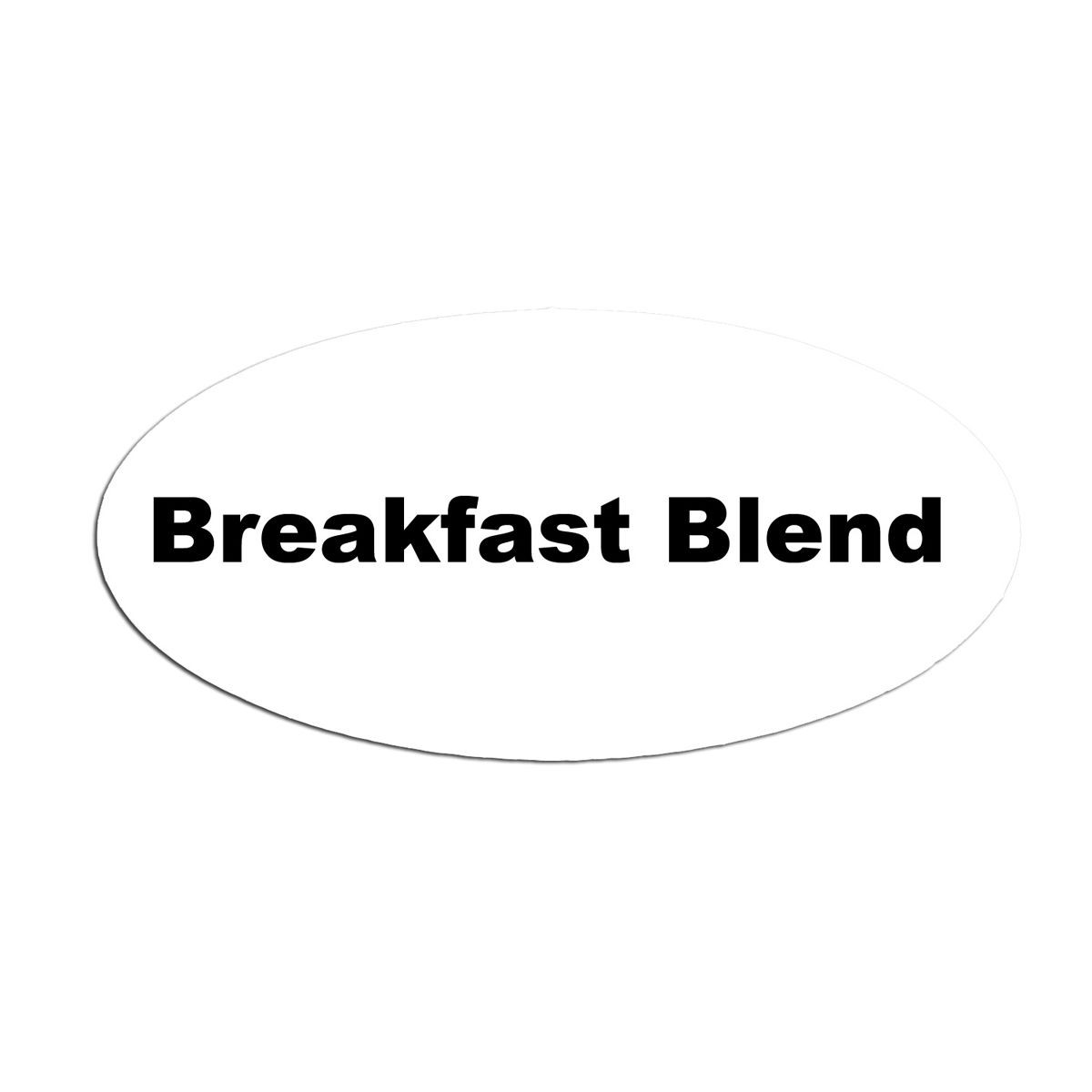 Service Ideas MFTBB Oval Magnetic Flavor Tag, Breakfast Blend