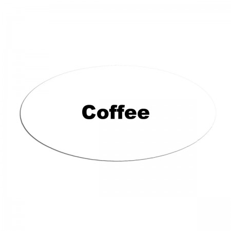 Service Ideas MFTCOF Oval Magnetic Flavor Tag, Coffee