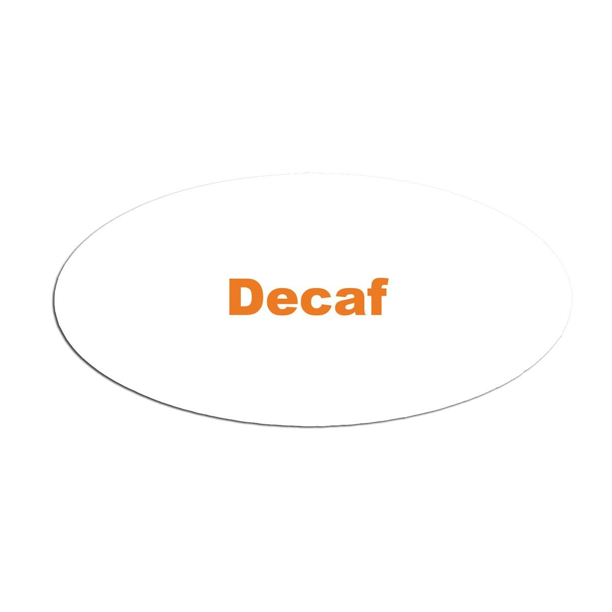 Service Ideas MFTDEC Oval Magnetic Flavor Tag, Decaf