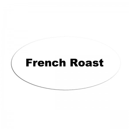 Service Ideas MFTFR Oval Magnetic Flavor Tag, French Roast