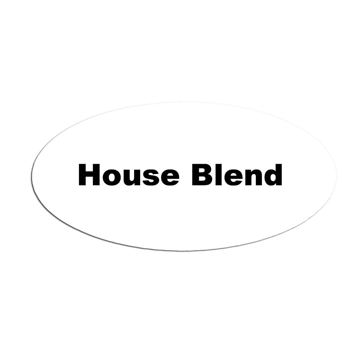Service Ideas MFTHB Oval Magnetic Flavor Tag, House Blend