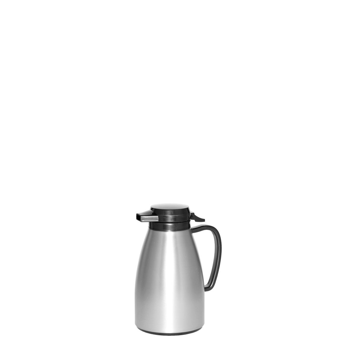 Service Ideas ML501MSSBL Coffee Server with Push Button Lid, Stainless & Black, 6 Liter