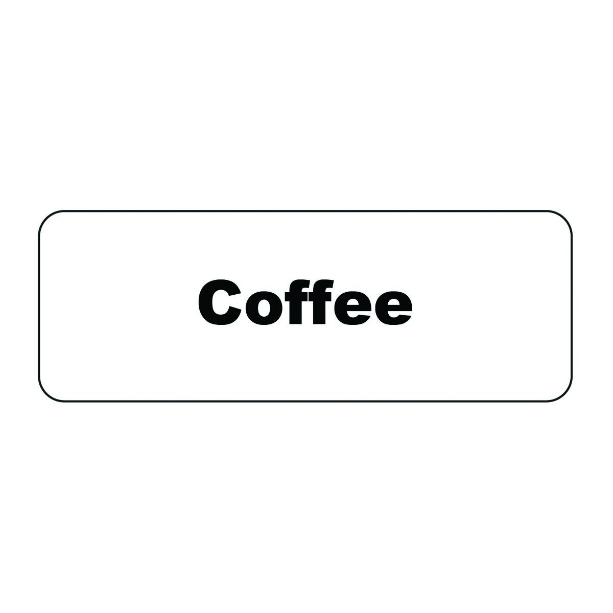 "Service Ideas MT1CF Coffee ID Magnet Tag, 1-1/4"" x 3-1/2"""