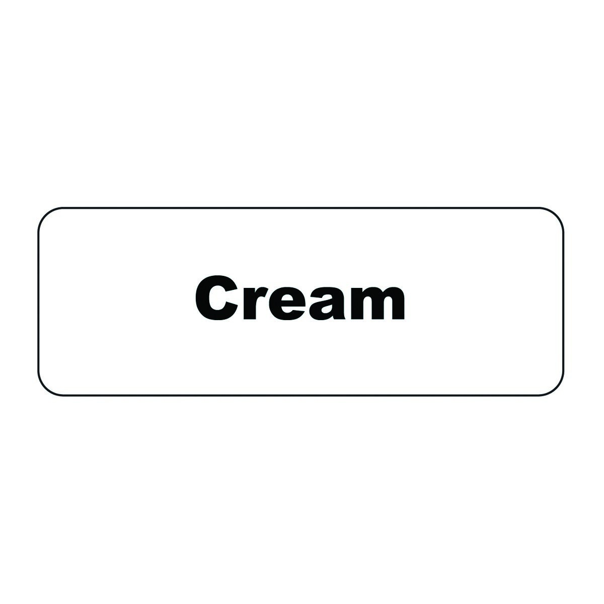 "Service Ideas MT1CR Cream ID Magnet Tag, 1-1/4"" x 3-1/2"""