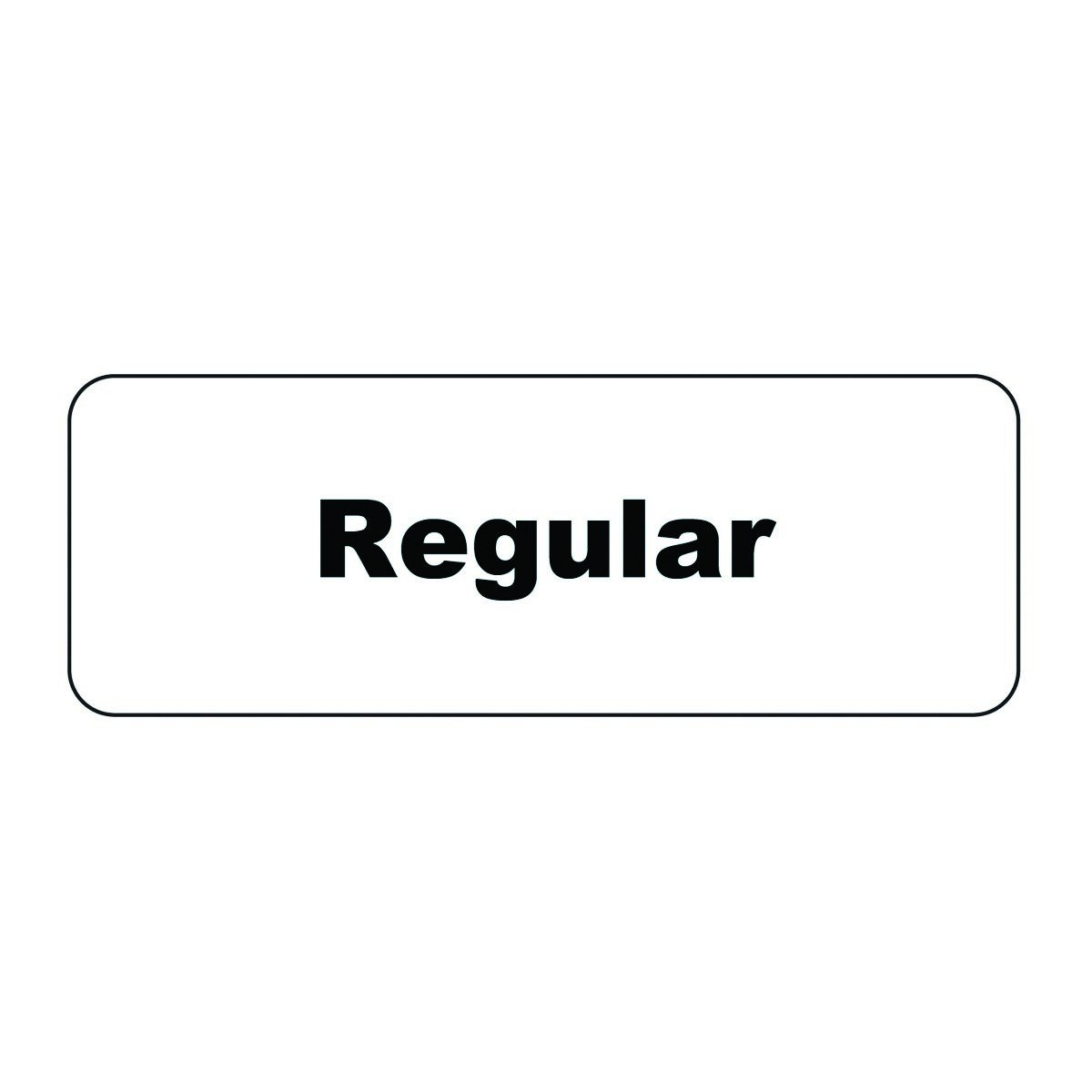"Service Ideas MT1RE Regular ID Magnet Tag, 1-1/4"" x 3-1/2"""