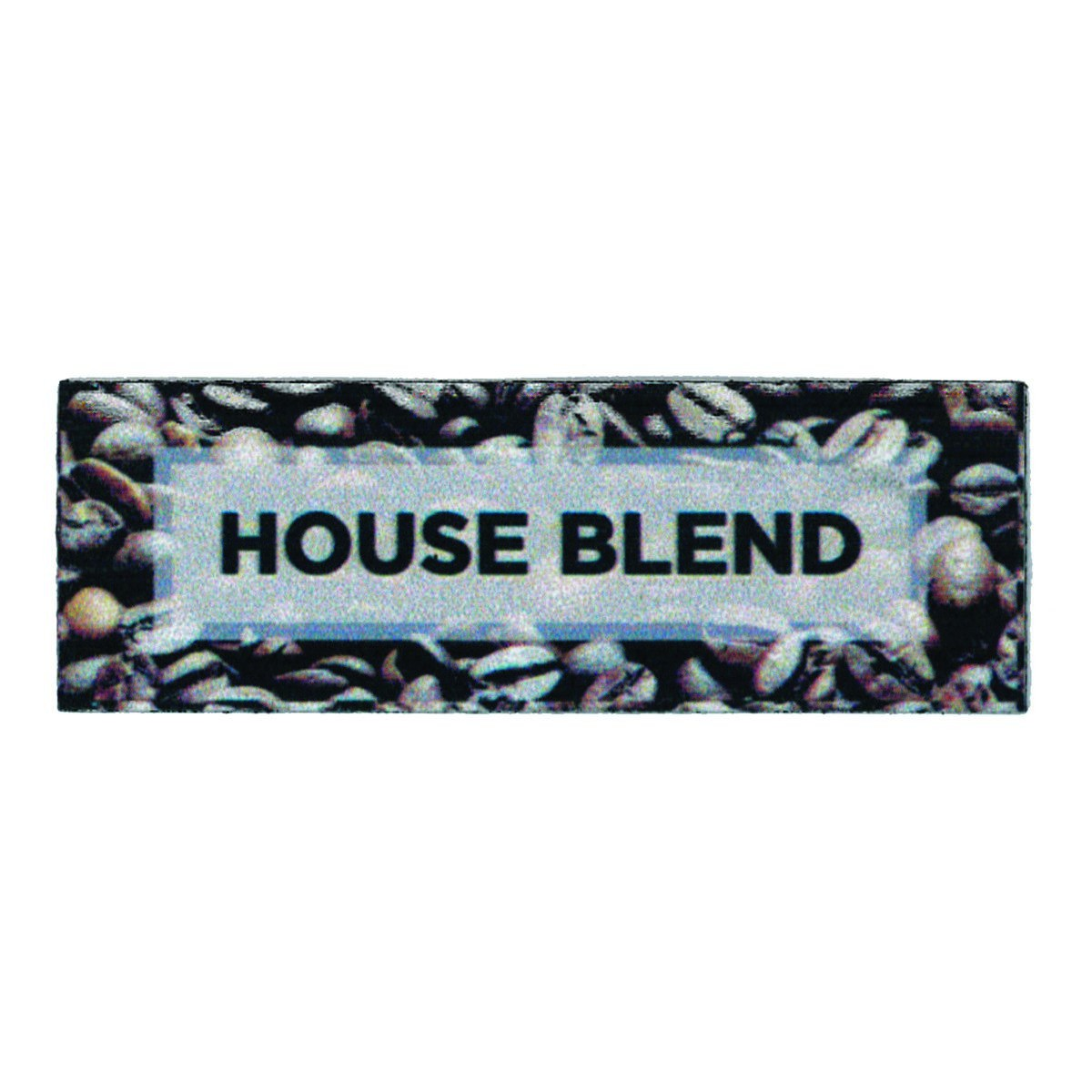 "Service Ideas MTCB1HB House Blend ID Magnet Tag, 3"" x 1"""