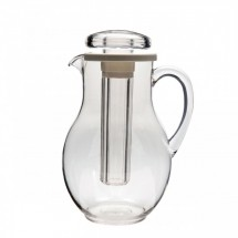 Service Ideas MWP30SB Clear Plastic Pitcher with Ice Tube 3 Liter