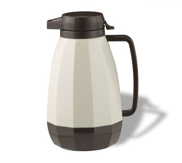 Service Ideas NG101ST New Generation Stoneware Brown Coffee Server, 1 Liter (34 oz.)
