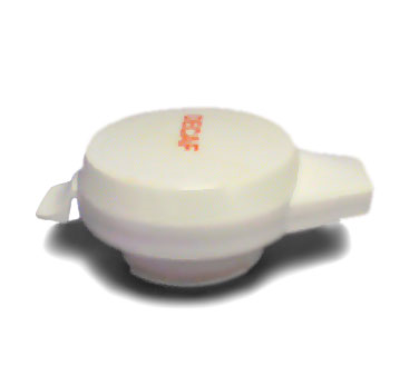 Service Ideas NGLWWHD Decaf Welded Push Button Server Lid, White