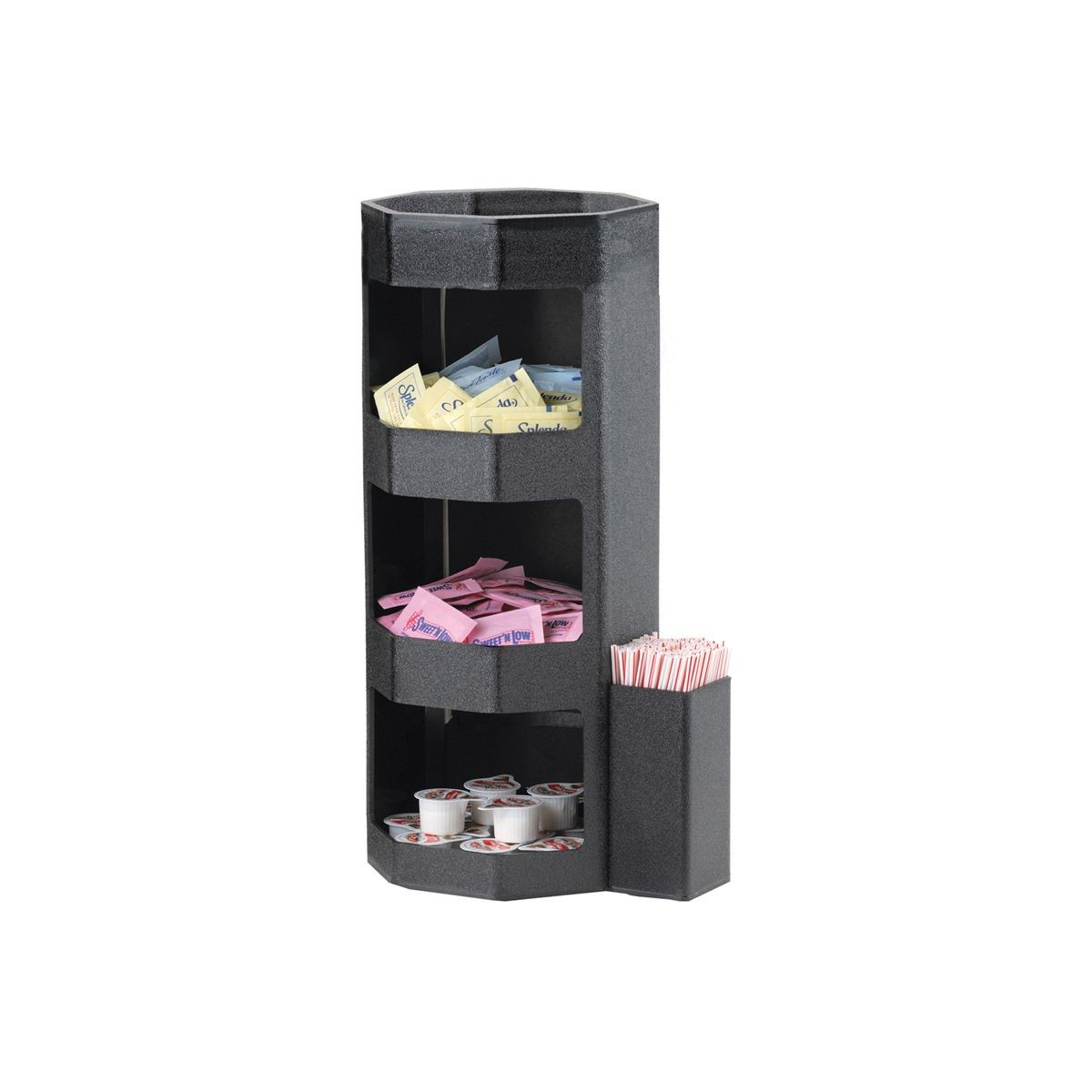 Service Ideas OCH7715C 4-Compartment Octagonal Vertical Condiment Caddy