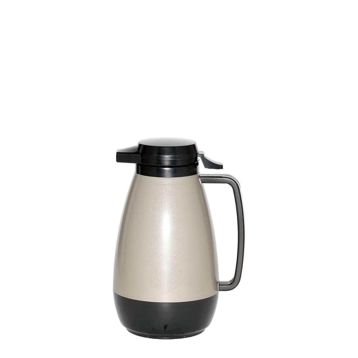Service Ideas PB101MG Thermo-Serv Metallic Grey Push Button Coffee Server, 1 Liter (34 oz.)