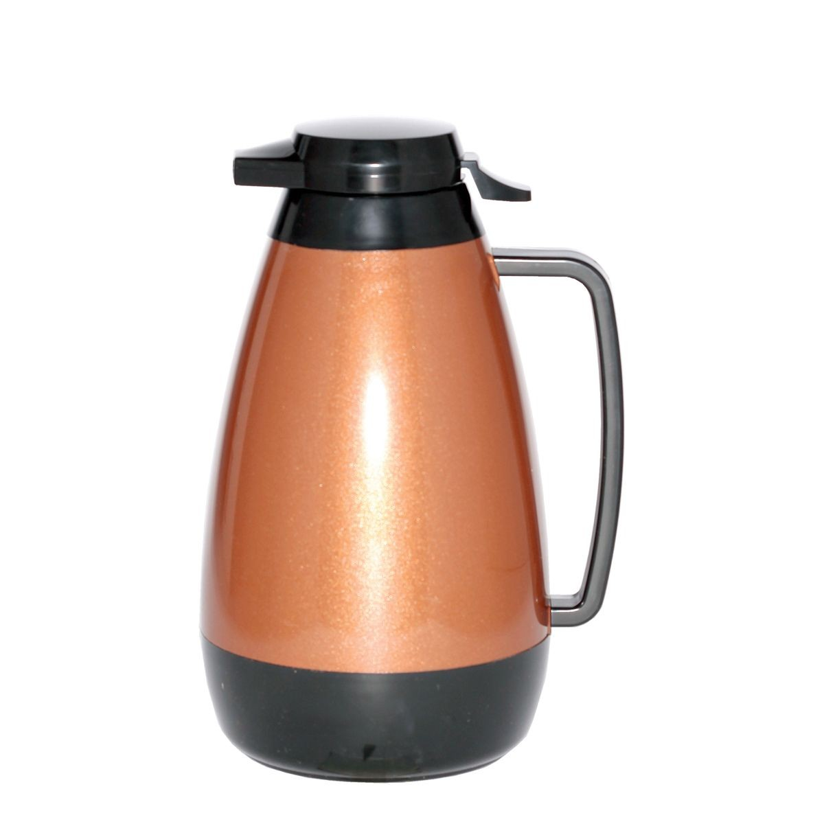 Service Ideas PB421CB Thermo-Serv Copper and Black Push Button Coffee Server, 2 Liter (68 oz.)