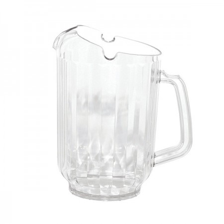 Service Ideas PCP60V2 3-Way Pour Pitcher, Clear 1.7 Liter ( 60 oz.)