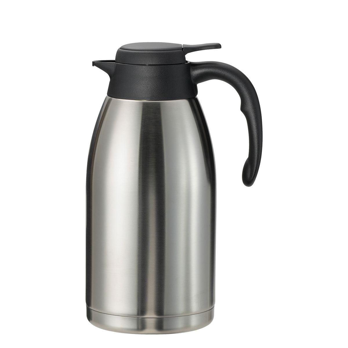 Service Ideas PWLA201 Steelvac Brushed Stainless Server, 2 Liter (68 oz.)