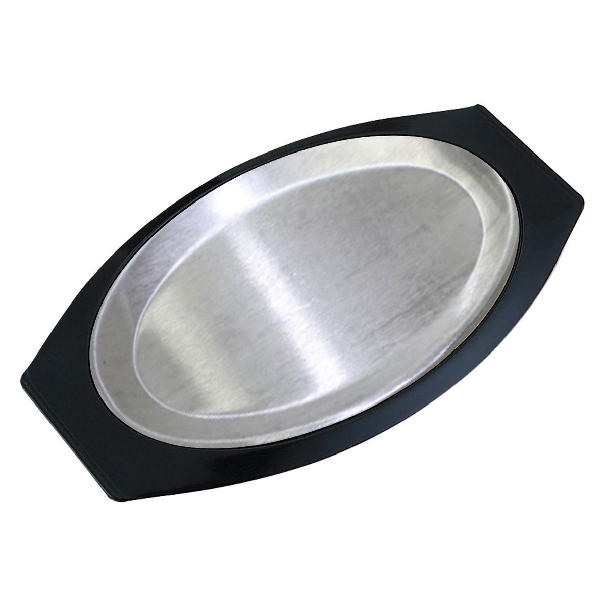 Service Ideas RO117BLAC Thermo-Plate Oval Sizzle Platter Set