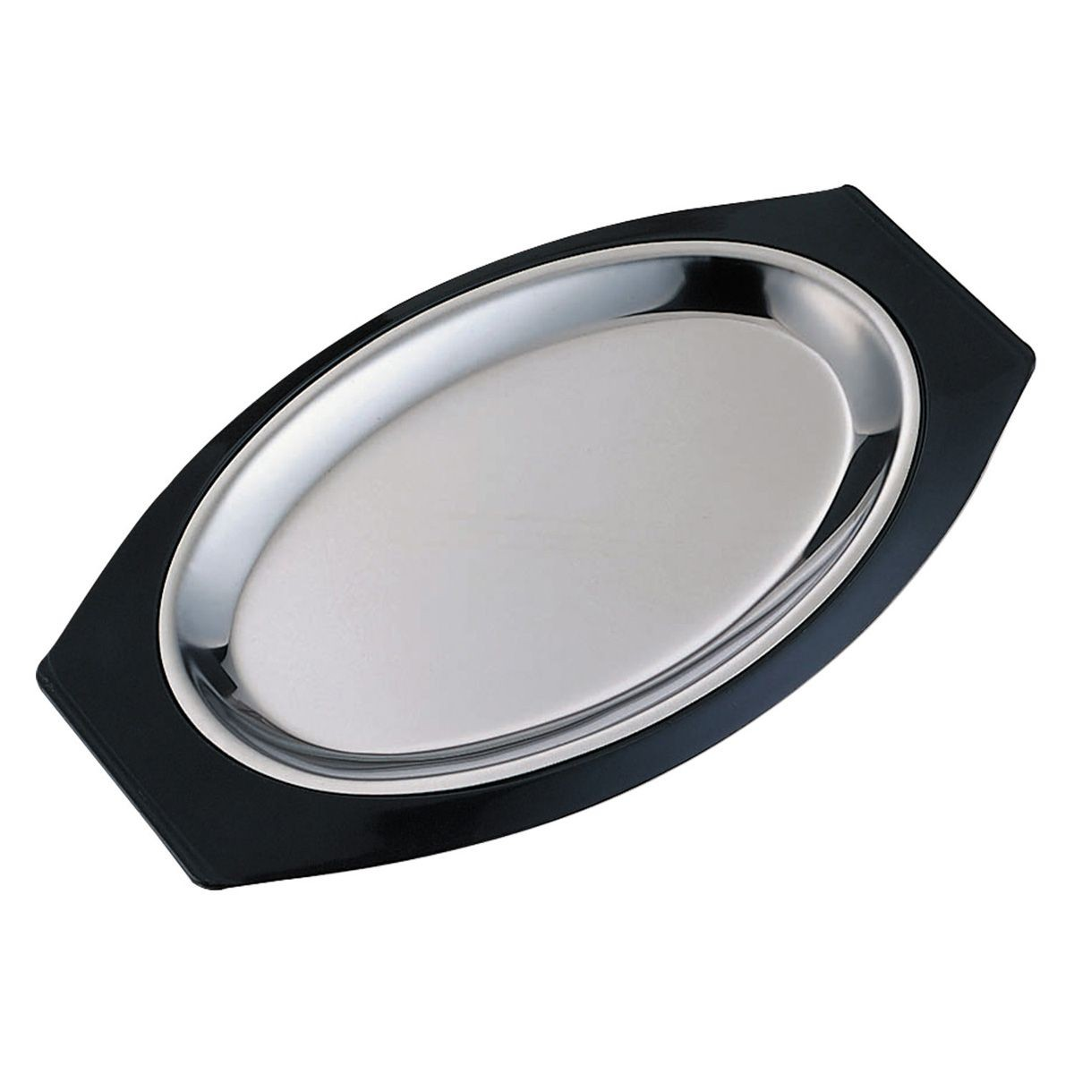 Service Ideas RO117BLC Thermo-Plate Oval Sizzle Platter Set