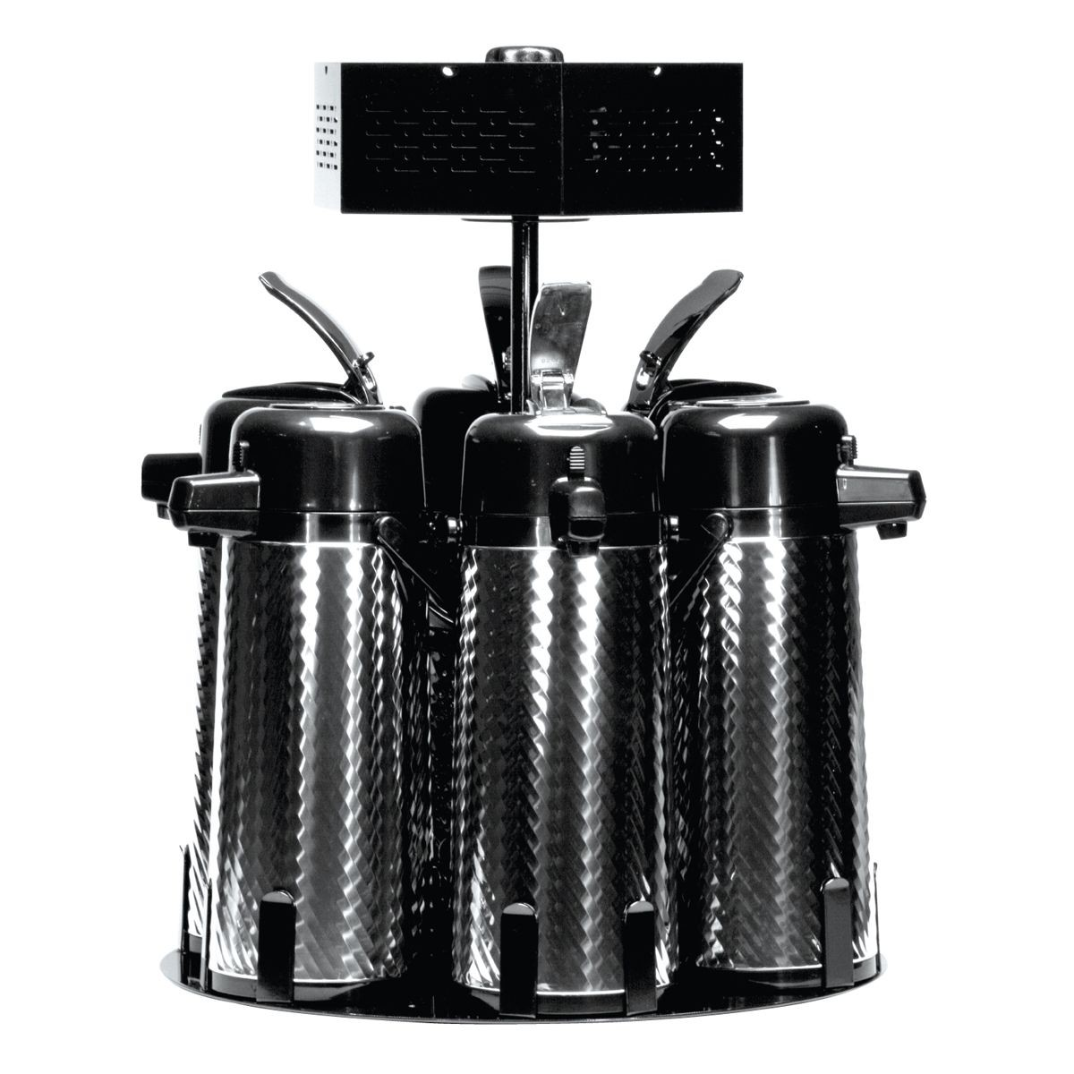 Service Ideas RRA6V2C 6-Station Rotating Airpot Stand with Condiment Holder