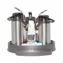 Service Ideas RRAP3BLK Roto Rack 3 Airpot Serving Rack