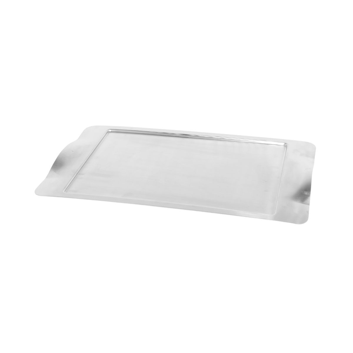 "Service Ideas SB-42 SteelForme Brushed Stainless Steel Rectangular Serving Tray, 20""x 11"""
