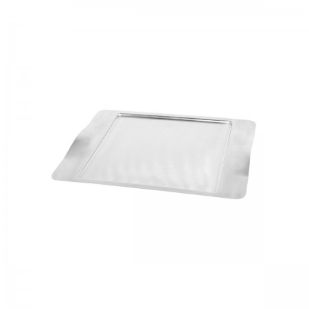 "Service Ideas SB-43 SteelForme Rectangular Tray with Contoured Handles, 16"" x 13"""