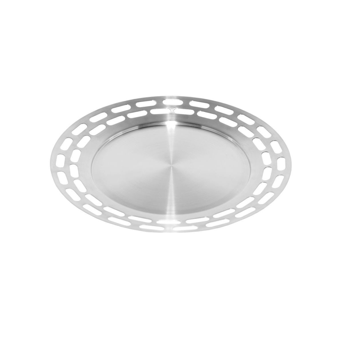 "Service Ideas SB-47 SteelForme Round Serving Tray 15"" Dia."