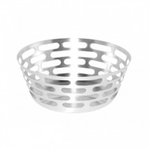 Service Ideas SB-63 SteelForme Round Stainless Fruit Bowl, 12-in.