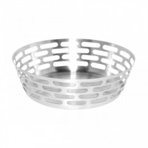 Service Ideas SB-64 SteelForme Round Bread Basket 9-in.