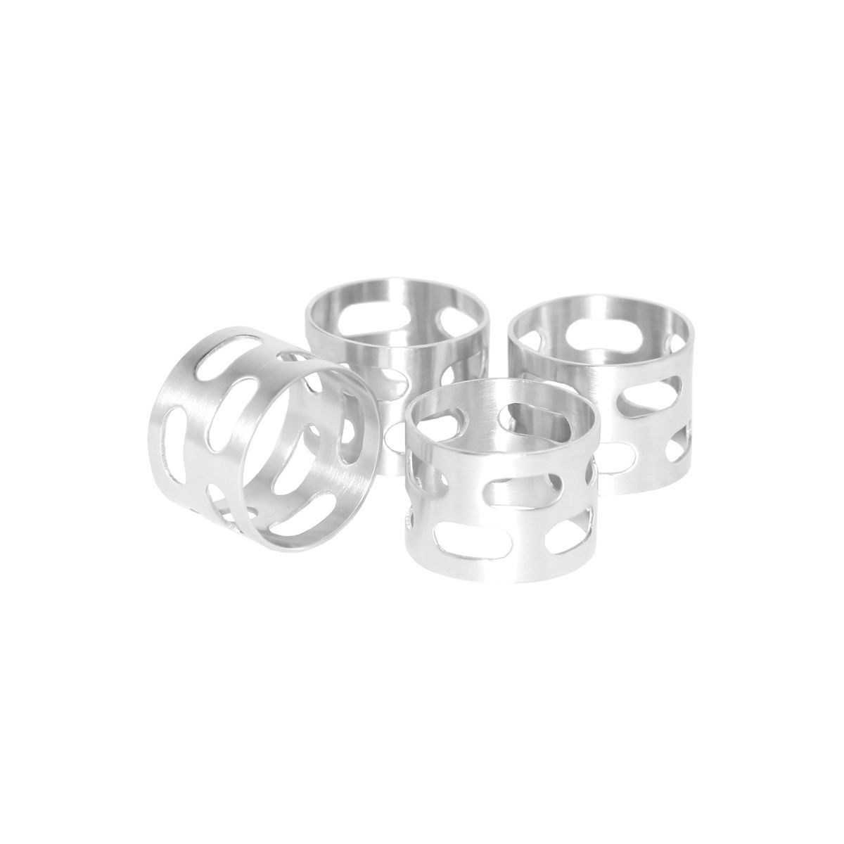 "Service Ideas SB-67 SteelForme Napkin Ring Set 1.5"" Dia."