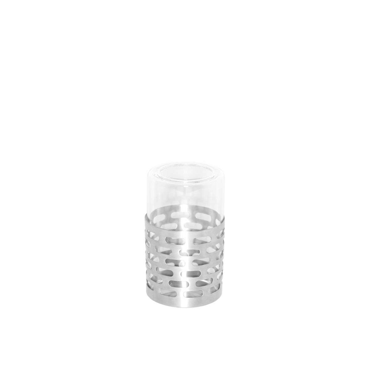 "Service Ideas SB-71 SteelForme Candle Holder with Removable Glass, 3-1/2"" Dia. x 6"" H"
