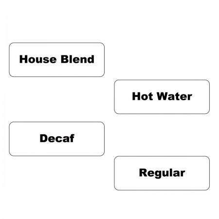 Service Ideas SC1HBCL Static Cling Label Clear Hot Pack, 20 Sheets