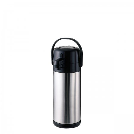 Service Ideas SECA25S Eco Air Stainless-Lined Pump Lid Airpot, 2.5 Liter