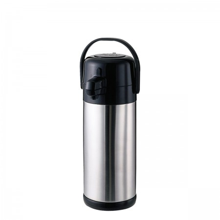 Service Ideas SECA30S Eco Air Stainless-Lined Pump Lid Airpot, 3 Liter