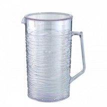 Service-Ideas-SI2LITCL-Sculptured-Ice-Pitcher-with-Lid-2-Liter--67-6-oz--