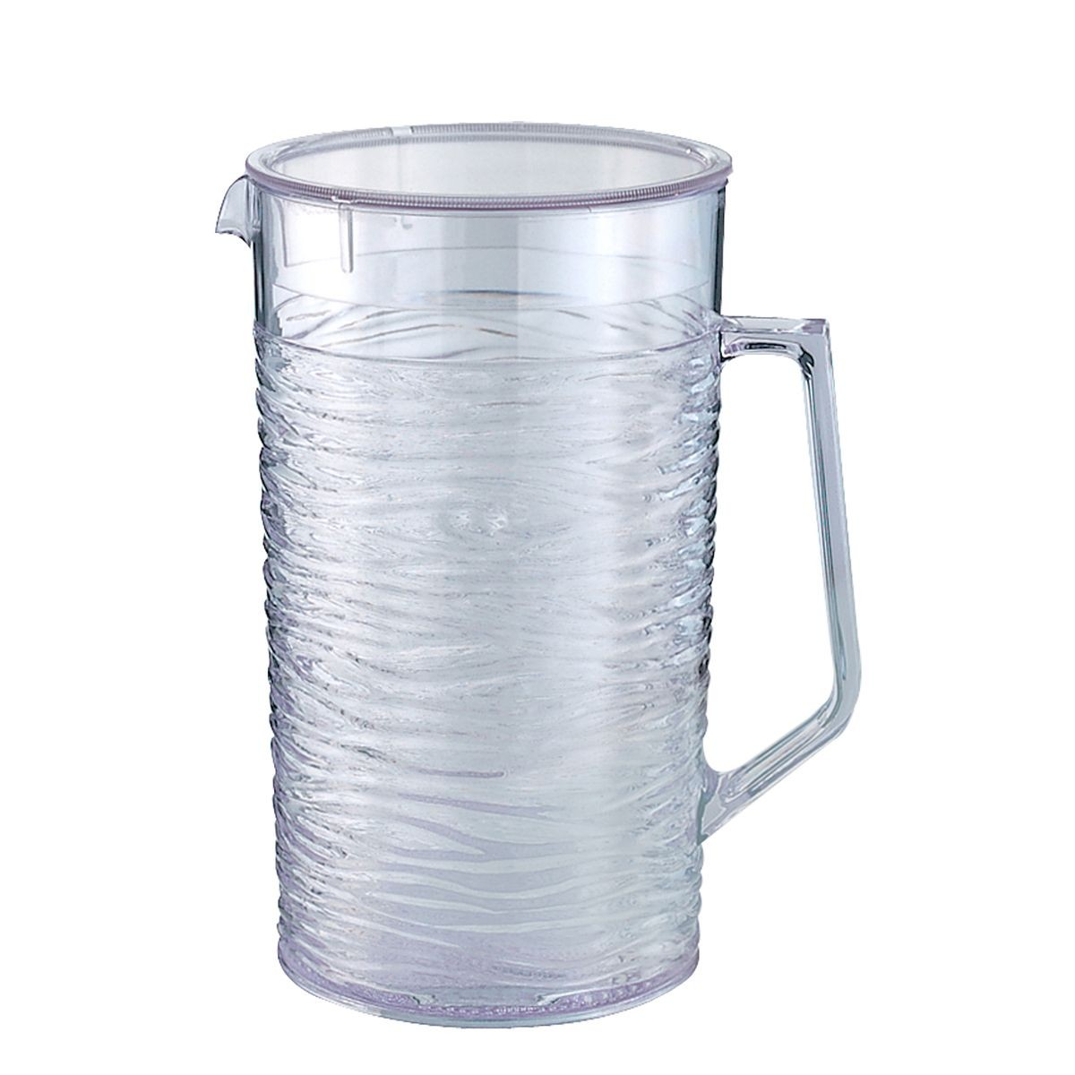 Service Ideas SI2LITCL Sculptured Ice Pitcher with Lid 2 Liter (67.6 oz.)