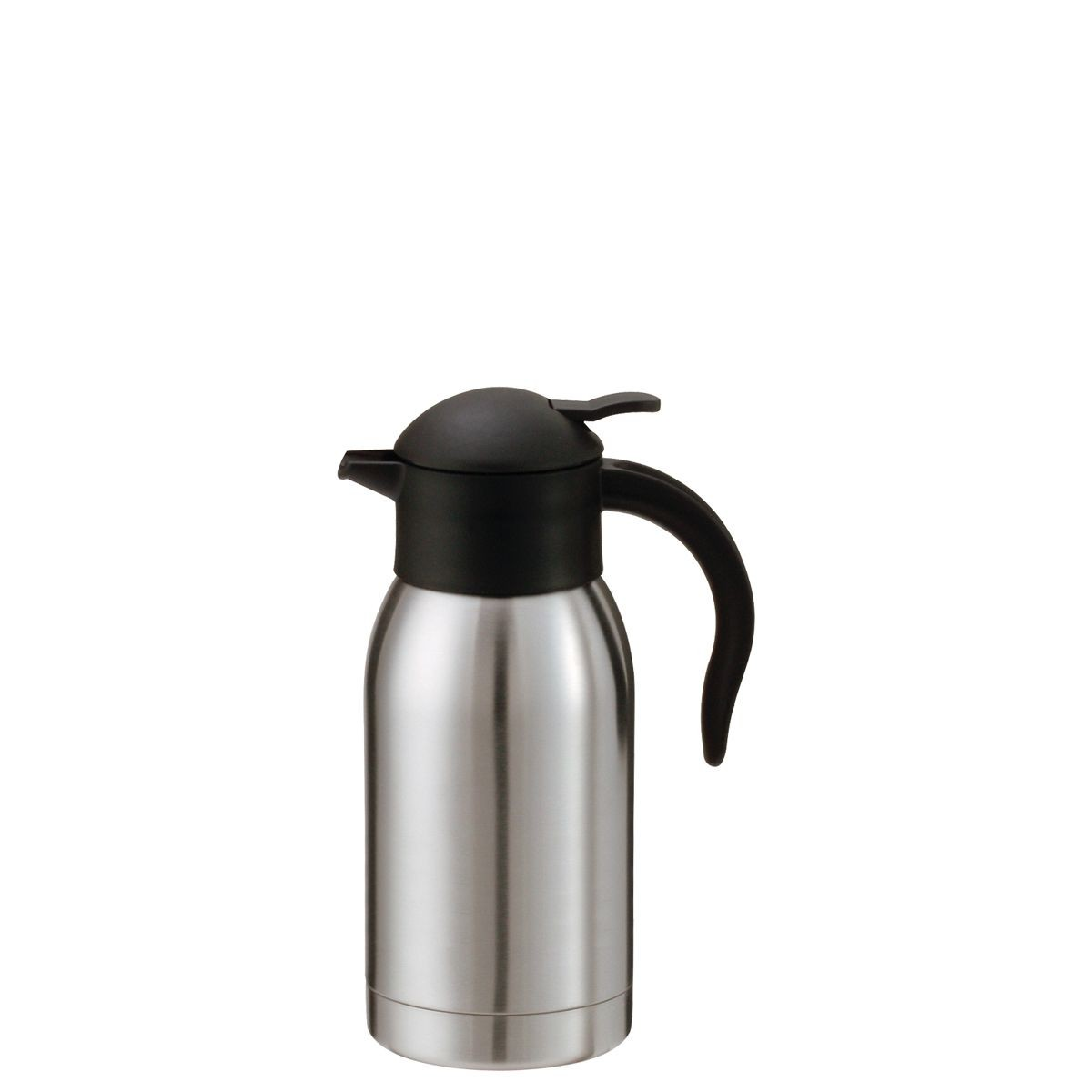 Service Ideas SJ10SS Steelvac Stainless Vacuum Carafe with Push Button Lid, 1 Liter
