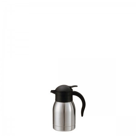 Service Ideas SJ60SS SteelVac Stainless Slim Carafe with Push Button Lid, 0.6 Liter