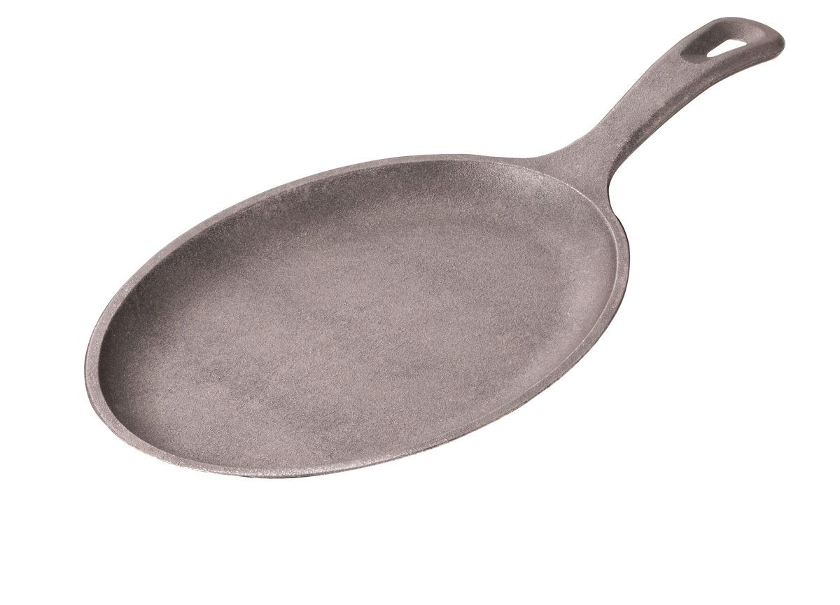 "Service Ideas SK10CIH Cast Iron Oval Skillet with Handle 7.5"" x 15"""