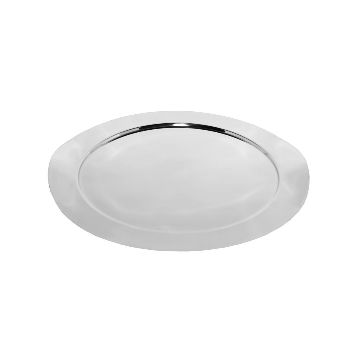 "Service Ideas SM-40 SteelForme Stainless Steel Round Tray, 16""D"