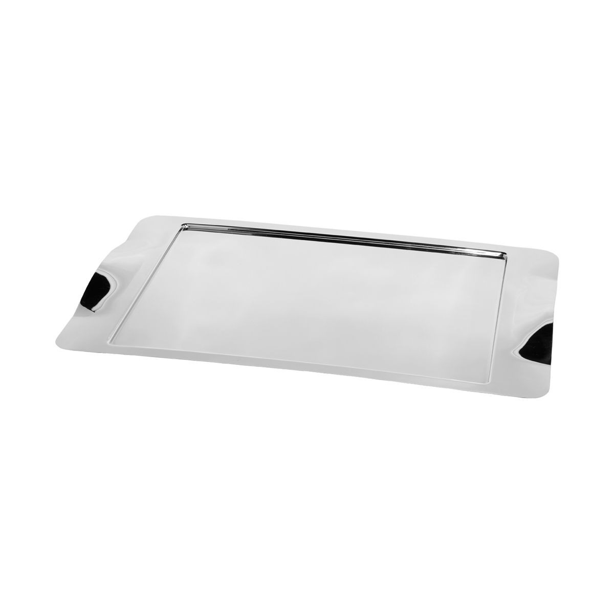 "Service Ideas SM-42 Rectangular Tray with Contoured Handles, 20"" x 11"""