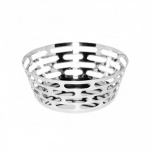 Service Ideas SM-64 SteelForme Round Bread Basket, 9""